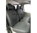 Nissan Primastar 9 seater mini bus seat covers - black leatherette made to measure set- VSC901